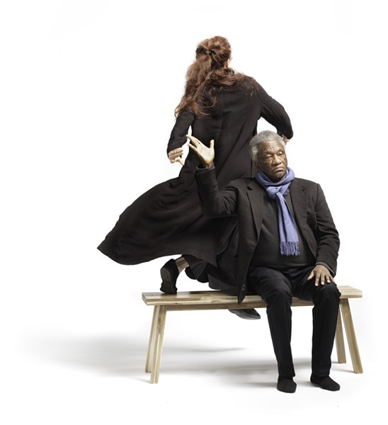 """Beth Corning and Donald Byrd in """"What's Missing?"""" - PHOTO COURTESY OF WALSH PHOTOGRAPHY"""