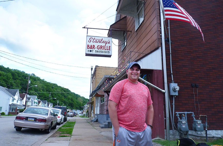 Ford City borough councilor Tyson Klukan outside Stanley's Bar and Grille in June - CP PHOTO BY RYAN DETO