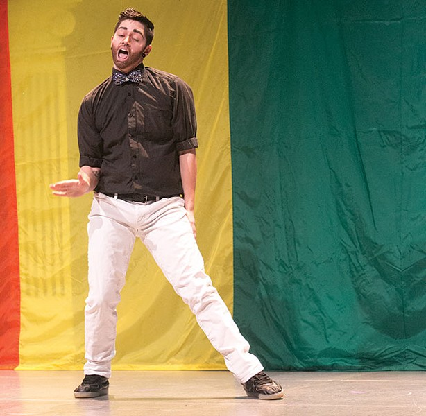Drag King Shane Moening performing at a recent event in Pittsburgh - CP PHOTO BY JOHN COLOMBO