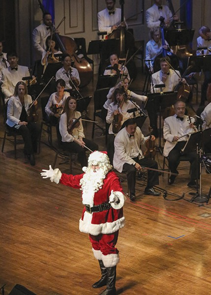 Santa makes an appearance at the Holiday Pops. - PHOTO BY WADE MASSIE