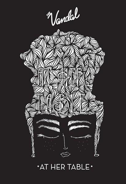 The logo for At Her Table, designed by Pittsburgh artist Atiya Jones for TWELVE\TWENTY STUDIO