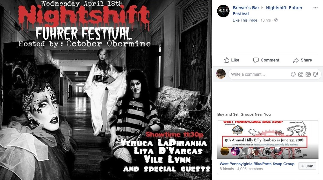 "Flier for ""Fuhrer Festival"" before event was canceled - IMAGE COURTESY OF FACEBOOK"