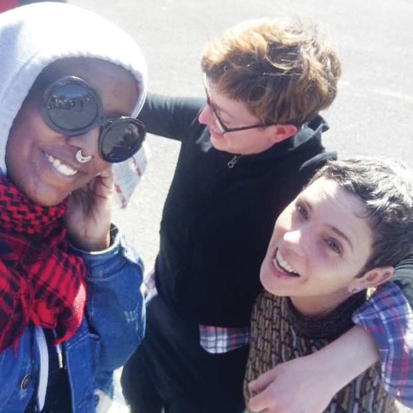 Feminist Zine Fest Pittsburgh organizers Jayla Patton, Anne Schwann and Jude Vachon