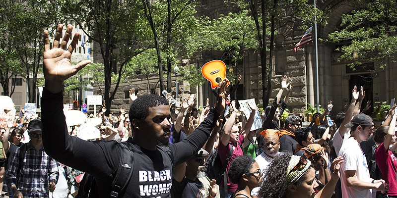 Black Lives Matter March  Photo by Billy Ludt