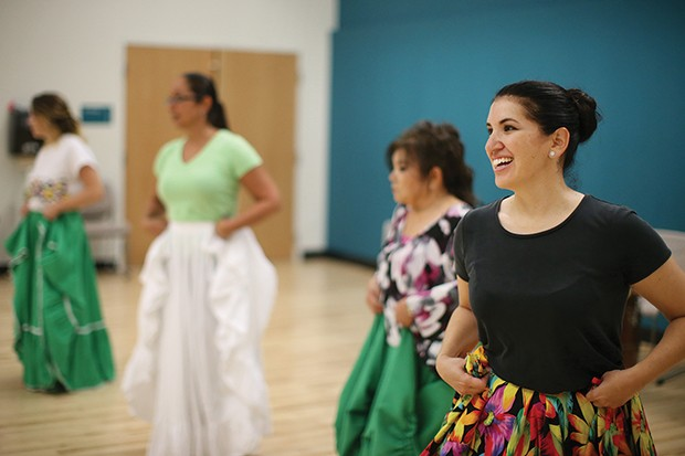 Diana Bishop participates in a Calle Bomba Series Workshop - CP PHOTO BY JARED WICKERHAM