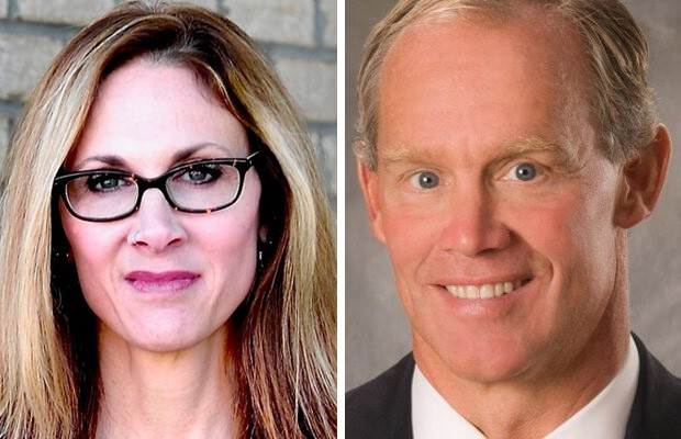 Emily Skopov (left) and Mike Turzai (right)