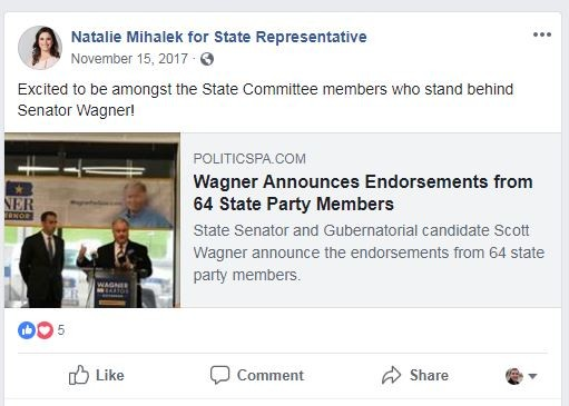 SCREENSHOT FROM MIHALEK'S FACEBOOK PAGE