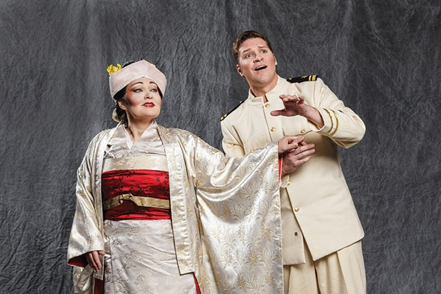 Soprano Dina Kuznetsova as Cio-Cio San and tenor Cody Austin as Lt. Pinkerton in Madama Butterfly