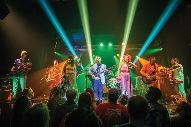 Turkuaz on stage at Rex Theater on Thu., Nov. 8. - CP PHOTO: DAVID HEATH