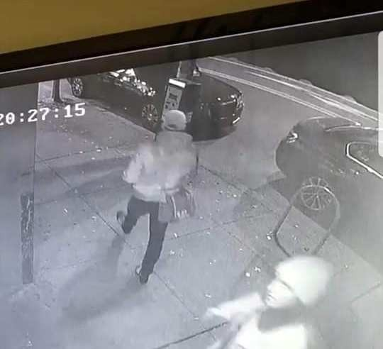Screenshot of security camera footage from the night of the incident