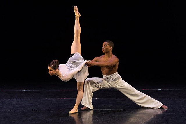 "Dara Schlesinger and James Regester in Edwaard Liang's ""The Art of War"" - KATIE GING"