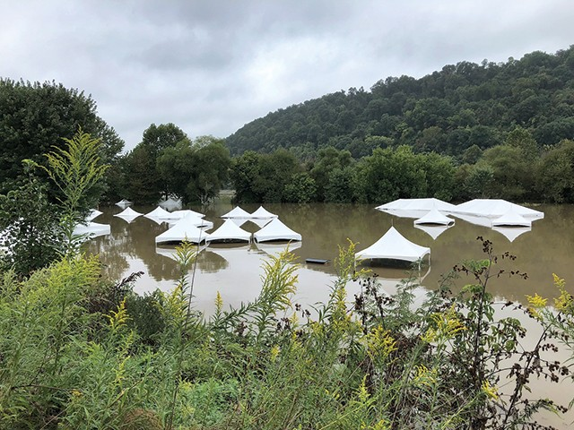 Tents under water at this year's Pittsburgh Irish Festival - MAIRIN PETRONE