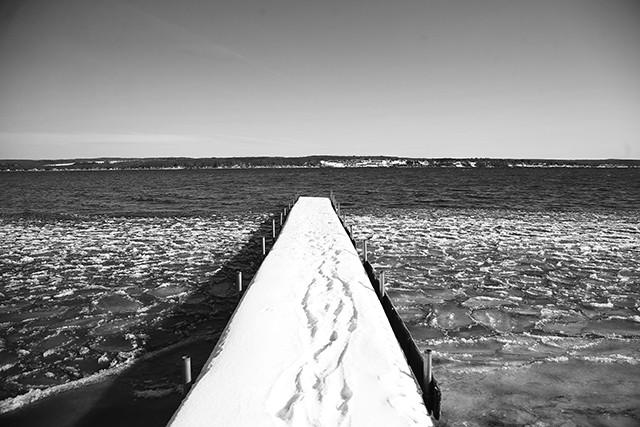 A view of Chautauqua Lake from Lakewood, New York - CP PHOTO: JARED WICKERHAM