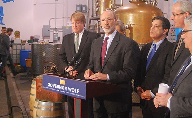 Gov. Tom Wolf {Center) - CP PHOTO: RYAN DETO