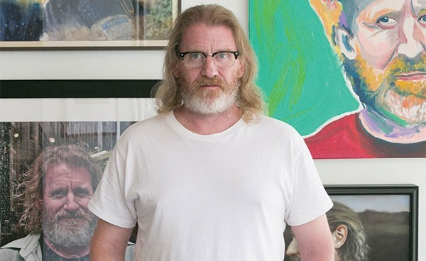 John Riegert in SPACE Gallery in 2016 - CP PHOTO: JOHN COLOMBO