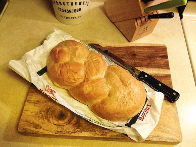 Mancini's Bakery twist loaf - CP PHOTO: JEFF SCHRECKENGOST
