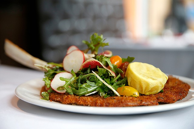 The Vitello Milanese (pan-fried veal chop) - CP PHOTO: JARED WICKERHAM