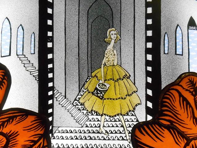 "Joseph Cavalieri's ""Barbie Descending the Staircase"" - COURTESY OF THE ARTIST"