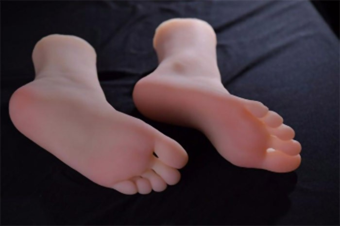 The Realistic Silicone Feet with Vaginas for sale on siliconwives.com
