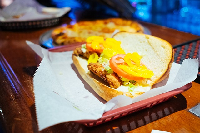 Chicken hoagie and a cheese pizza at Cattivo - CP PHOTO: JARED MURPHY
