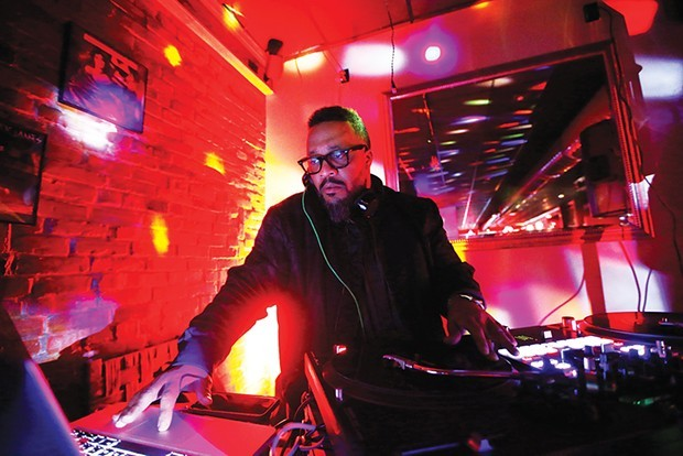 DJ Nate Da Barber hosts Carmi's Supper Club. - CP PHOTO: JARED WICKERHAM