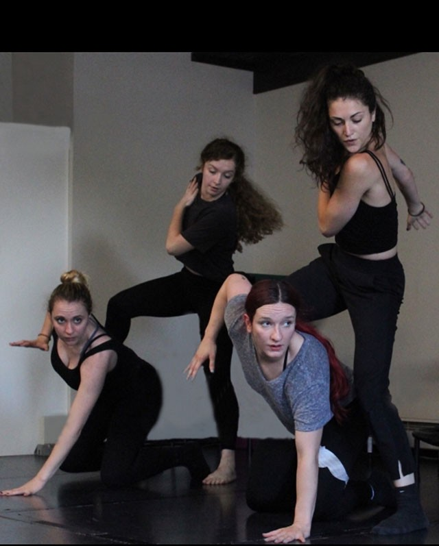 fireWALL dancers Adrianna Amodei, Lex Bomer, Glenna Clark, Elisa-Marie Alaio