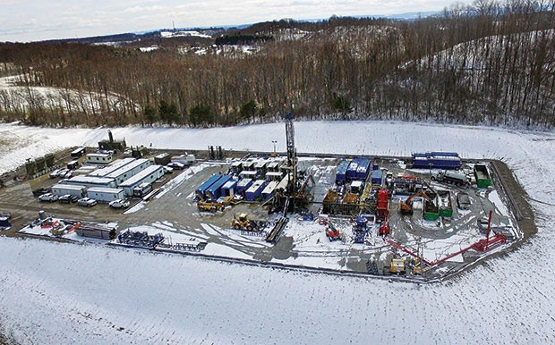 A natural-gas well pad in Westmoreland County - CP DRONE PHOTO BY JAKE MYSLIWCZYK