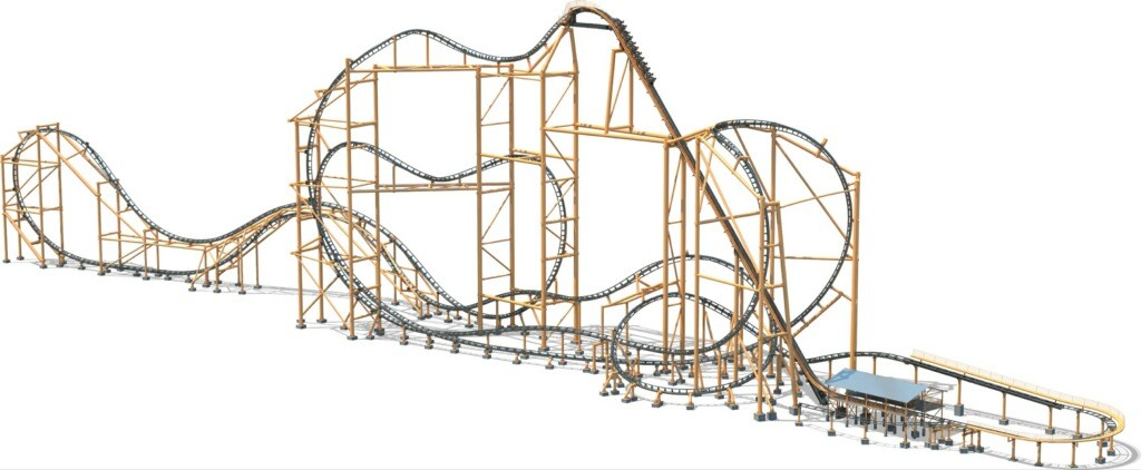 The Steel Curtain roller coaster - IMAGE COURTESY OF KENNYWOOD