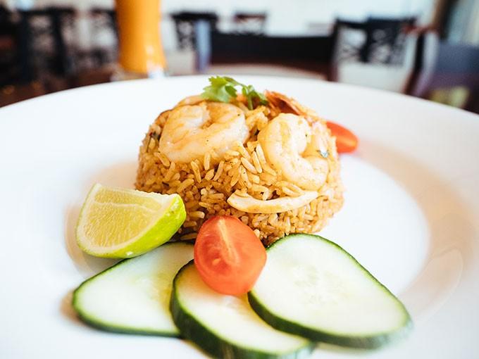 Tom Yum Fried Rice and Cha Yen Thai Iced Tea - CP PHOTO: JARED MURPHY