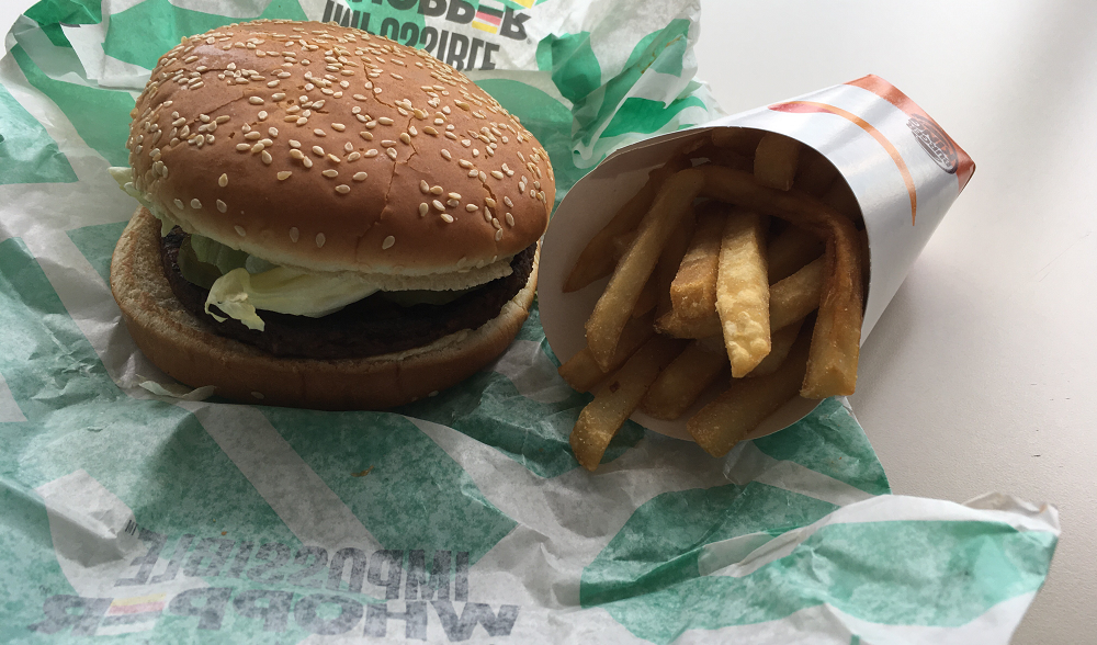 Impossible Whopper and fries - CP PHOTO: AMANDA WALTZ