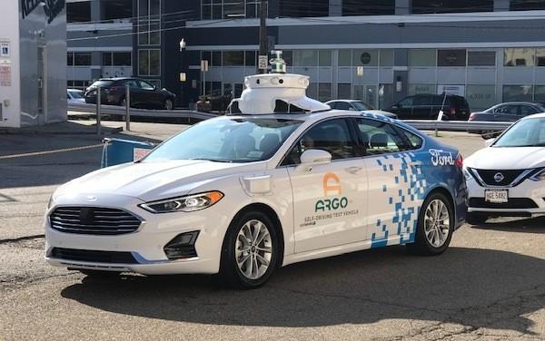 An Argo AI autonomous vehicle in the Strip District - CP PHOTO: RYAN DETO