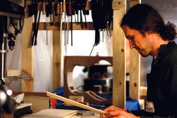 Stuart Day works in his basement shop - PHOTO COURTESY OF STUART DAY