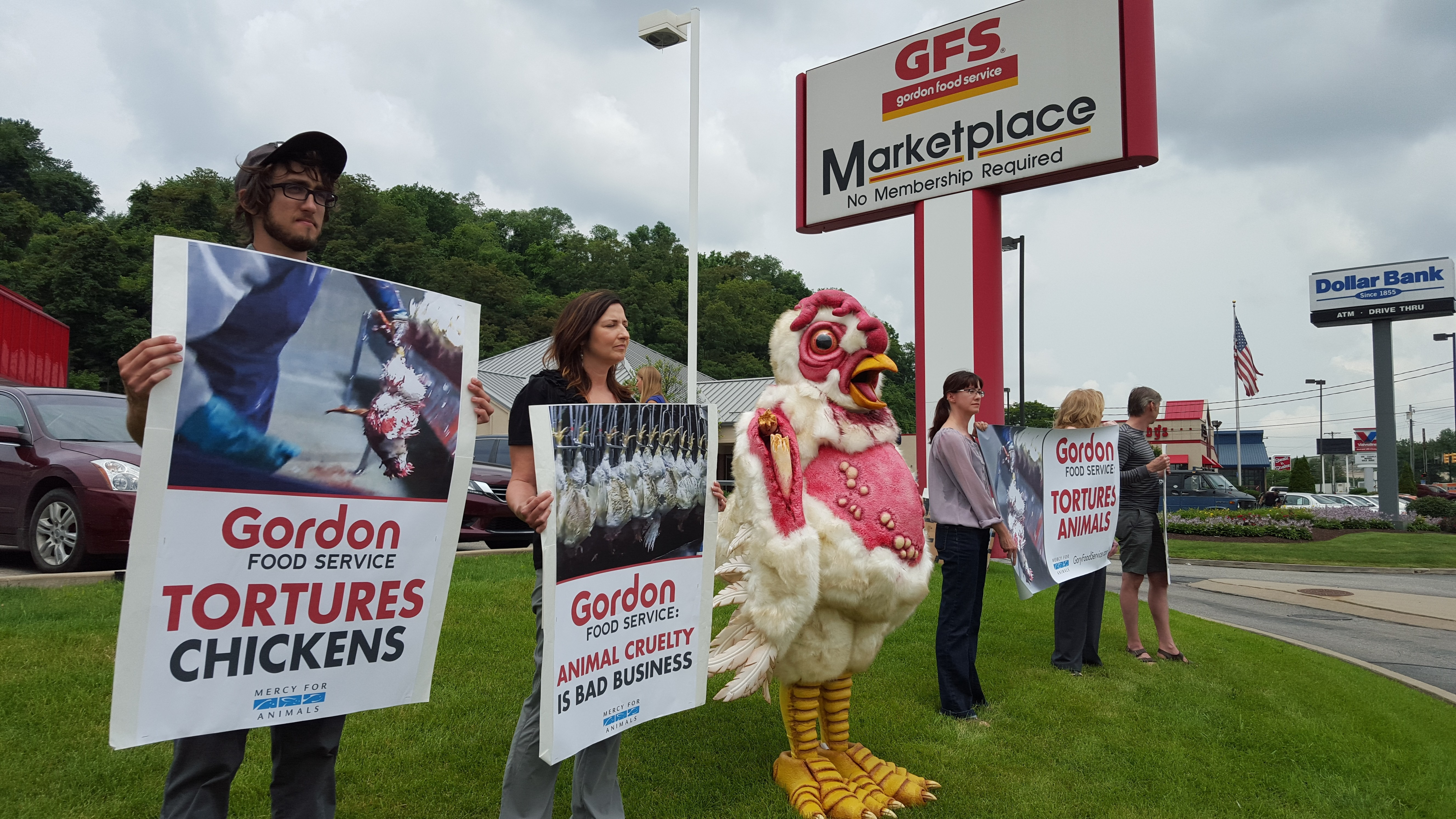 Animal rights group protests local GFS location | Blogh
