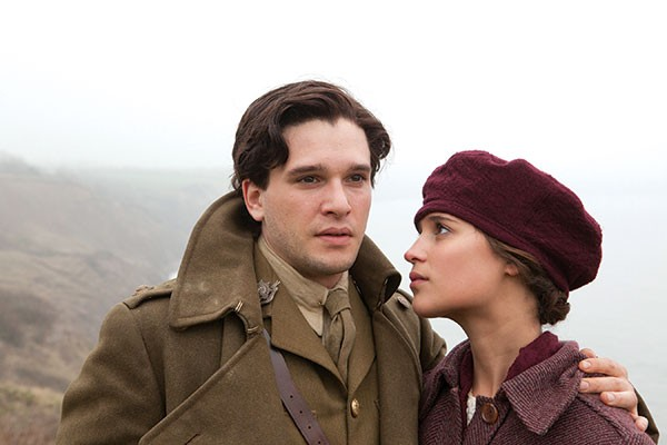 No time for romance: Kit Harington and Alicia Vikander