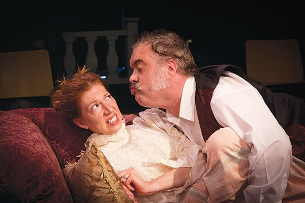 Stacey Rosleck and Tom Protulipac in Little Lake's A Little Hotel on the Side - PHOTO COURTESY OF HEATHER SPIRIK