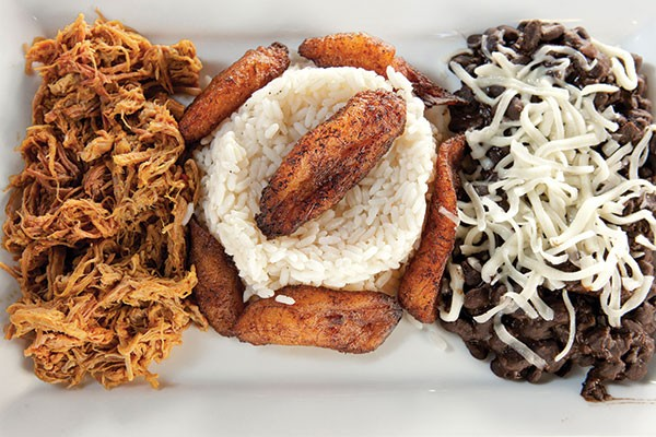 Pabellón: chicken, rice, plantains and black beans - PHOTO BY HEATHER MULL