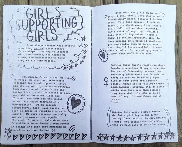 An issue of Moe Williams' zine Cutthroat Cutie - IMAGE COURTESY OF MOE WILLIAMS