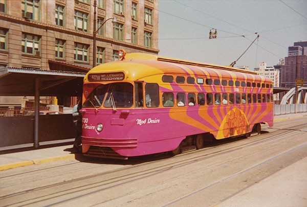 1967's Mod Trolley in action - PHOTO COURTESY OF THE PORT AUTHORITY OF ALLEGHENY COUNTY