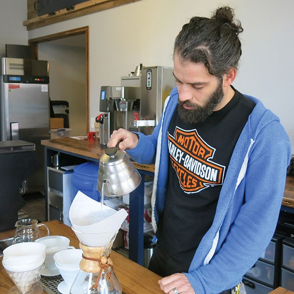 The Mexican War Streets' Commonplace Coffee manager Frank Battista - PHOTO BY BILL O'DRISCOLL
