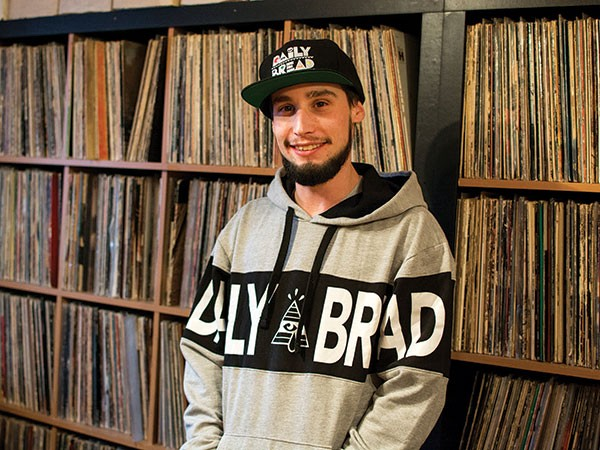 Ryan Haynes, a.k.a. DJ Afterthought, at ID Labs in Etna - PHOTO BY SARAH WILSON