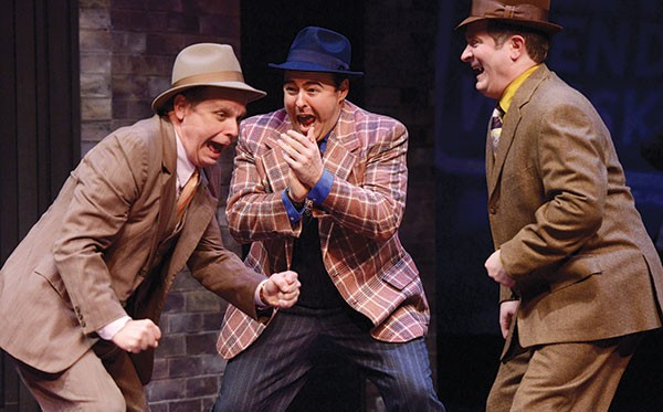 From left: Joel Hurt Jones, Quinn Patrick Shannon and Gavan Pamer in the Public's Guys & Dolls - PHOTO COURTESY OF PITTSBURGH PUBLIC THEATER