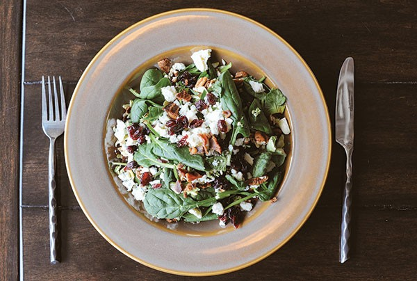 Spinach salad - PHOTOGRAPH BY ERIN KELLY