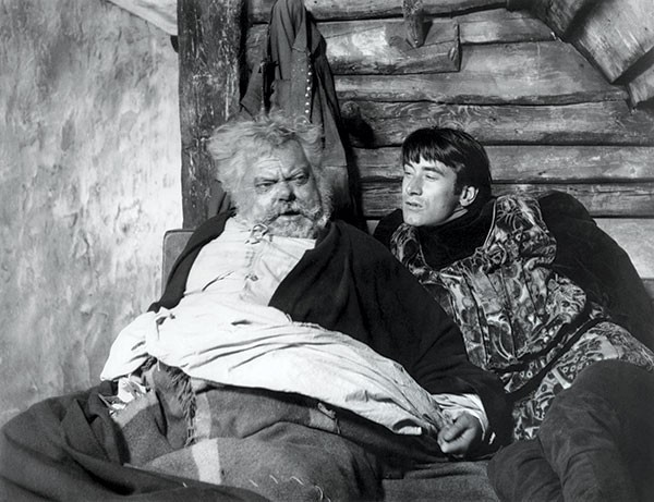 Orson Welles as Falstaff, and Keith Baxter as Prince Hal