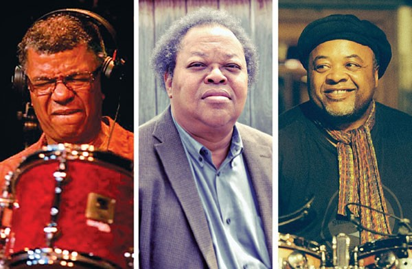 "Left to right: Jack DeJohnette, George Lewis, Jeff ""Tain"" Watts - PHOTOS COURTESY OF GIORGIO ALTO, EMILY PERAGINE AND VINCENT LEBRUN"
