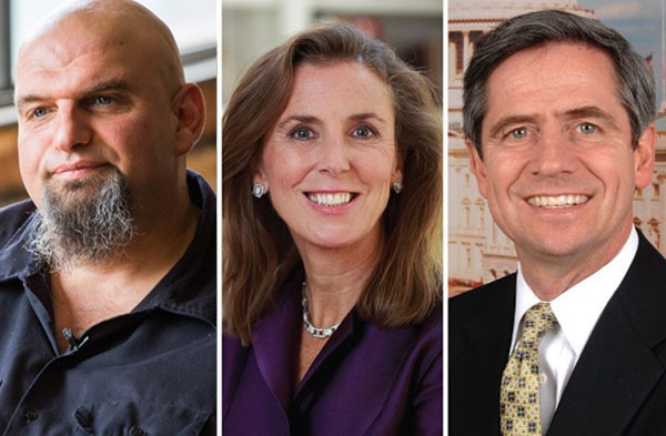 John Fetterman, Katie McGinty and Joe Sestak - PHOTOS COURTESY OF CANDIDATES