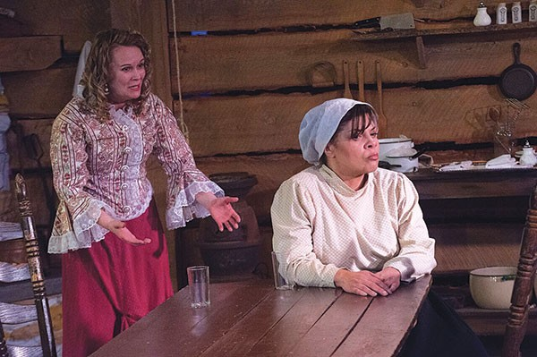 Tami Dixon and Chrystal Bates in Miss Julie, Clarissa and John at Pittsburgh Playwrights