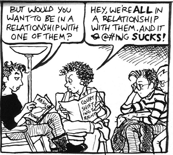 "Alison Bechdel's ""Dykes to Watch Out For"""