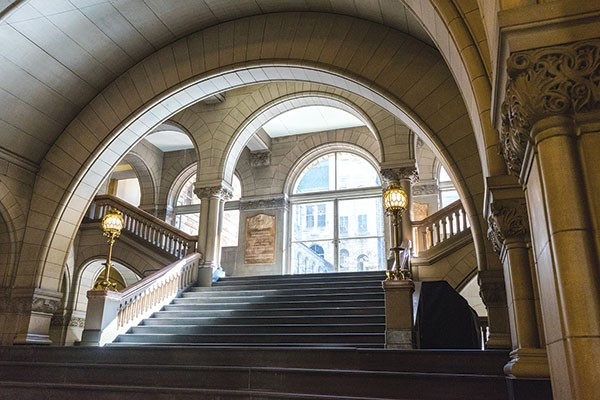 The Allegheny County Courthouse's grand staircase - PHOTO BY AARON WARNICK