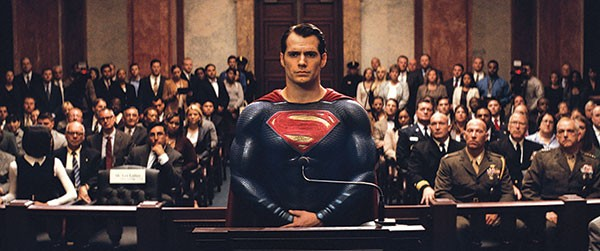 DC reckoning: Superman (Henry Cavill) answers Congressional charges that he isn't so super.