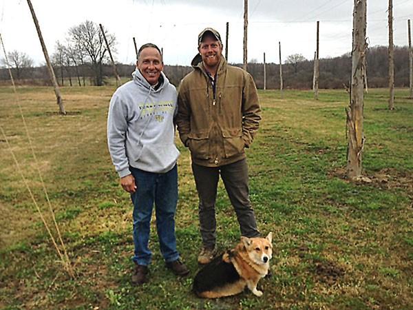 Left to right: Mark Verez and Noah Petronic of Keystone Hops Farm